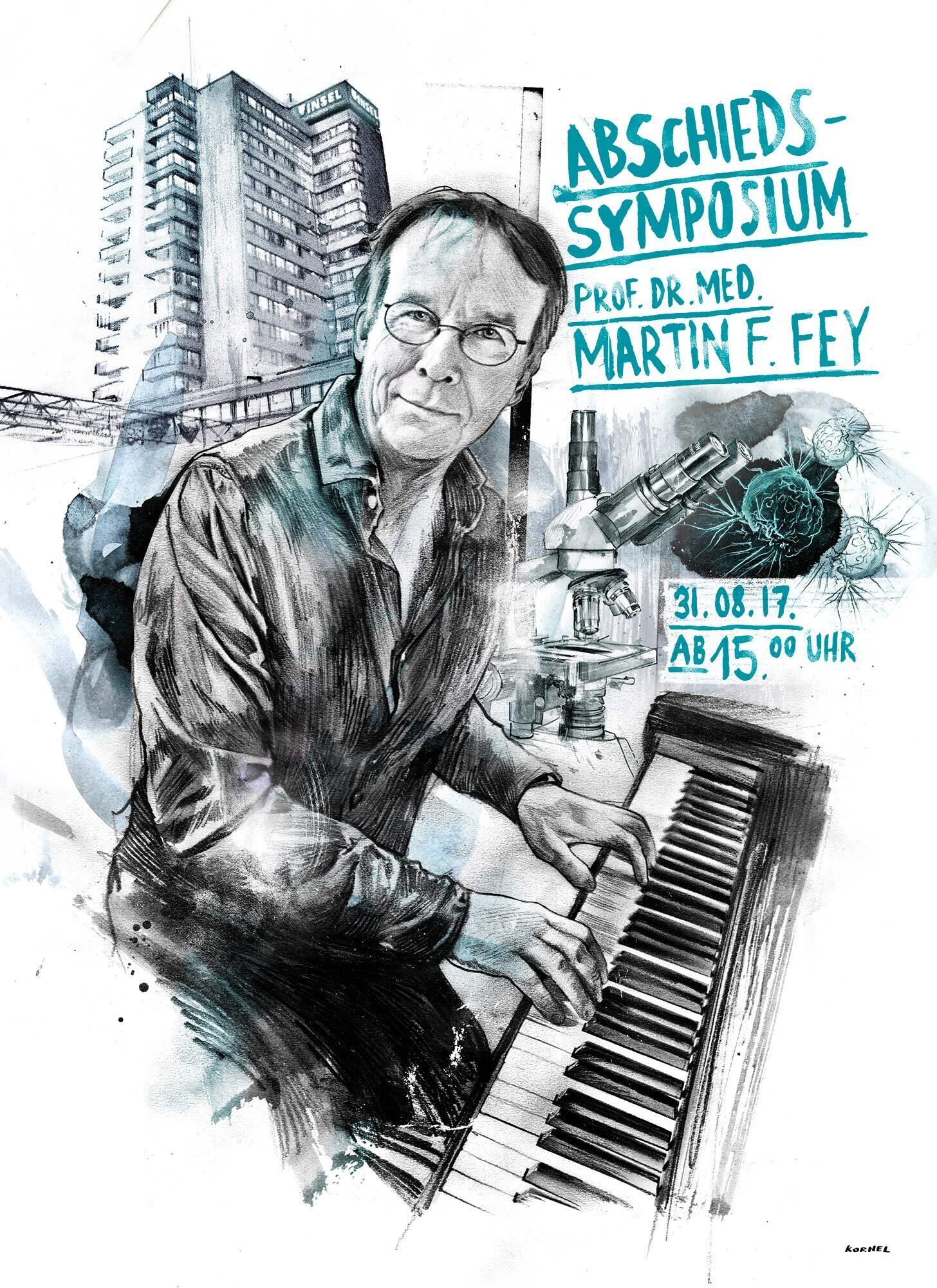 Prof Dr Med Martin Fey Illustration Portait - Kornel Illustration | Kornel Stadler portfolio