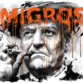 Client Arbeit Migros tabak alkohol gttlieb duttweiler portrait ilustration editorial Kornel Illustration | Kornel Stadler