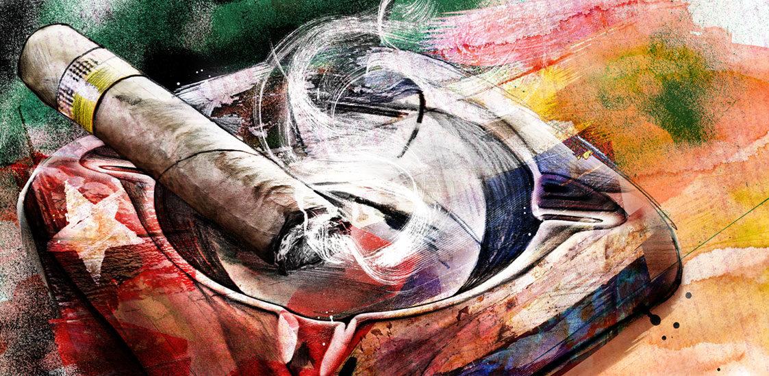 Zigarre - Kornel Illustration   Kornel Stadler portfolio