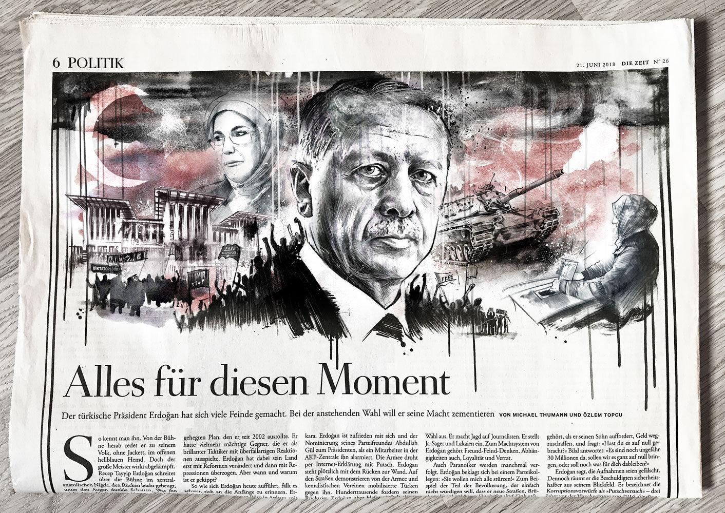 Erdogan Die Zeit - Kornel Illustration | Kornel Stadler portfolio