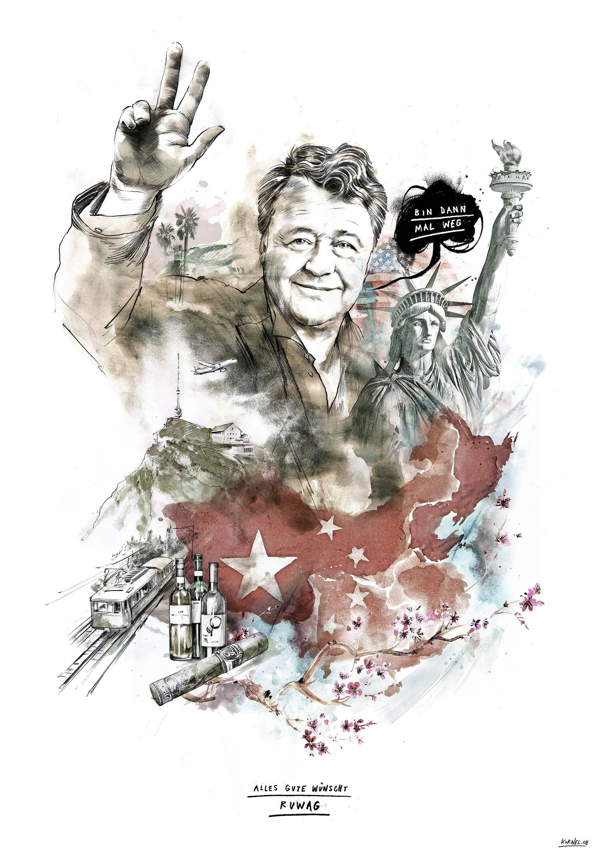 Ruwag andreas huber portrait artwork usa china - Kornel Illustration | Kornel Stadler portfolio
