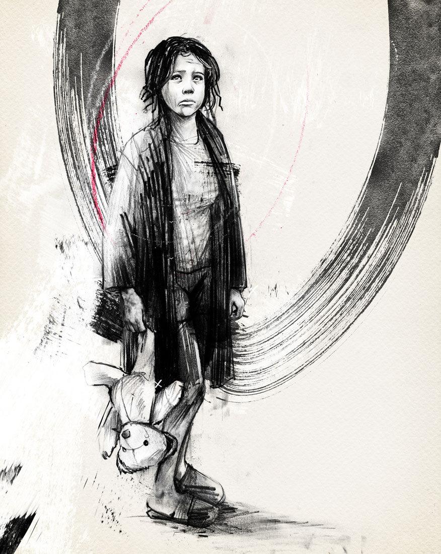 Refugee Sonntag Zeitung - Kornel Illustration | Kornel Stadler portfolio