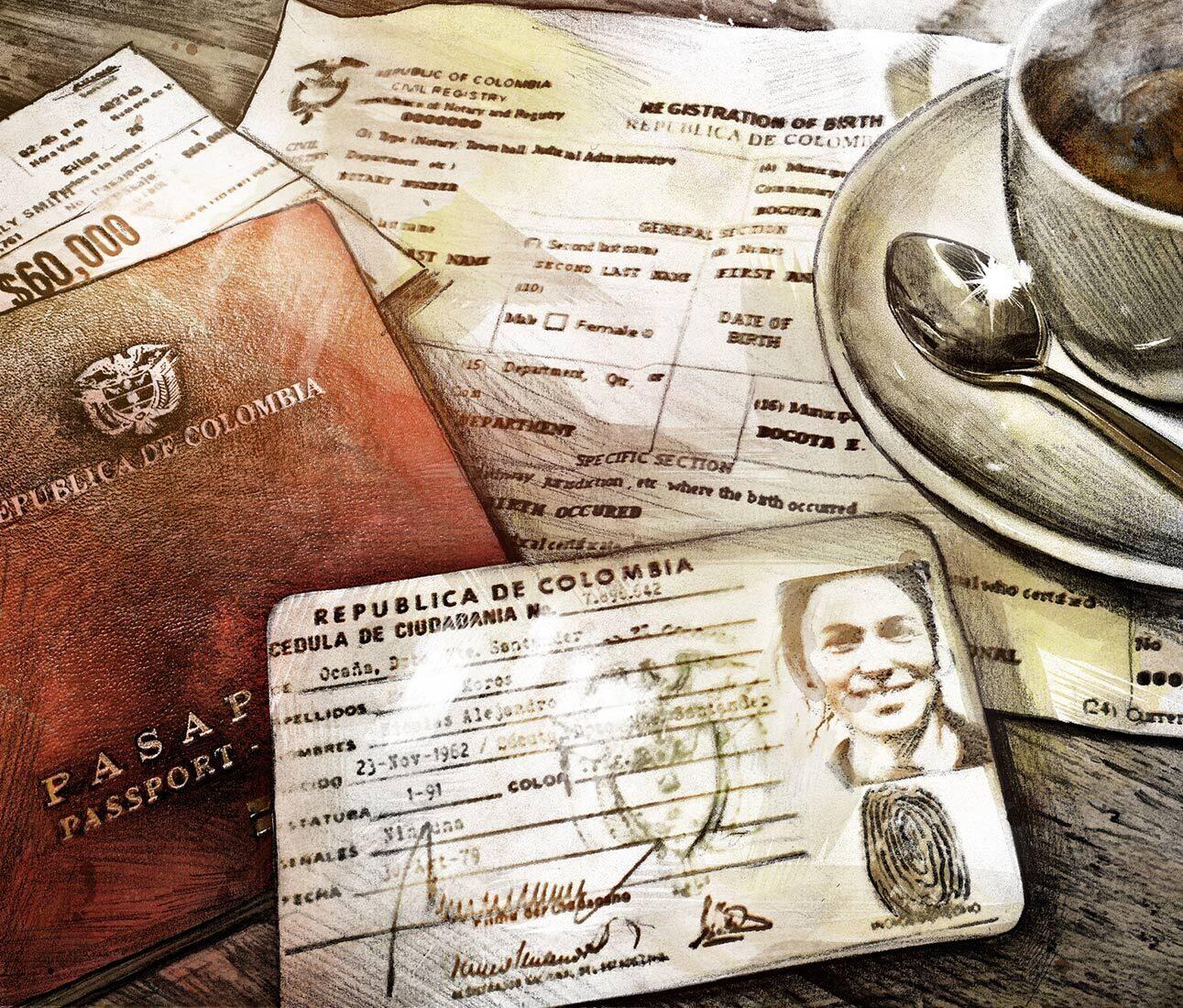 Passport travel illustration roots reserch - Kornel Illustration | Kornel Stadler portfolio