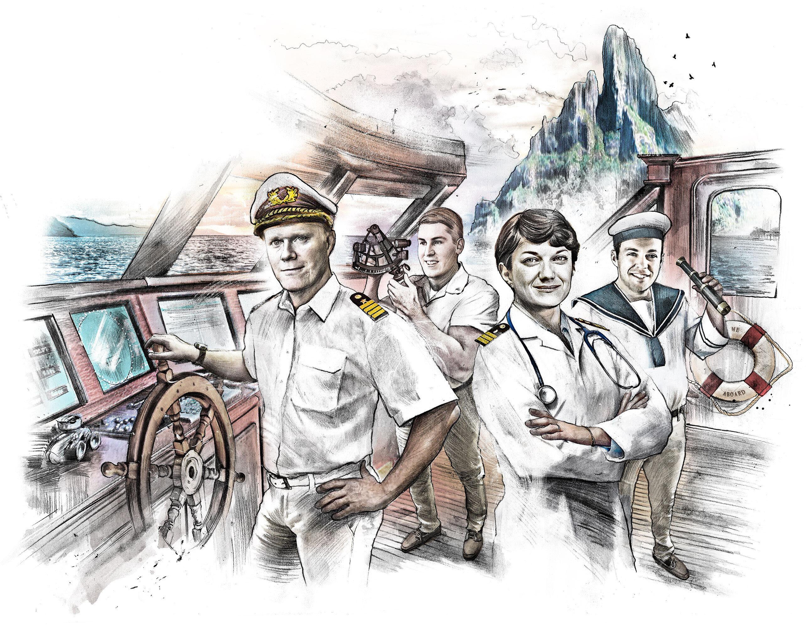 Golden Ager Traumschiff ilustration - Kornel Illustration | Kornel Stadler portfolio