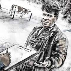 Work Story illustration realistic farmer Kornel Illustration | Kornel Stadler