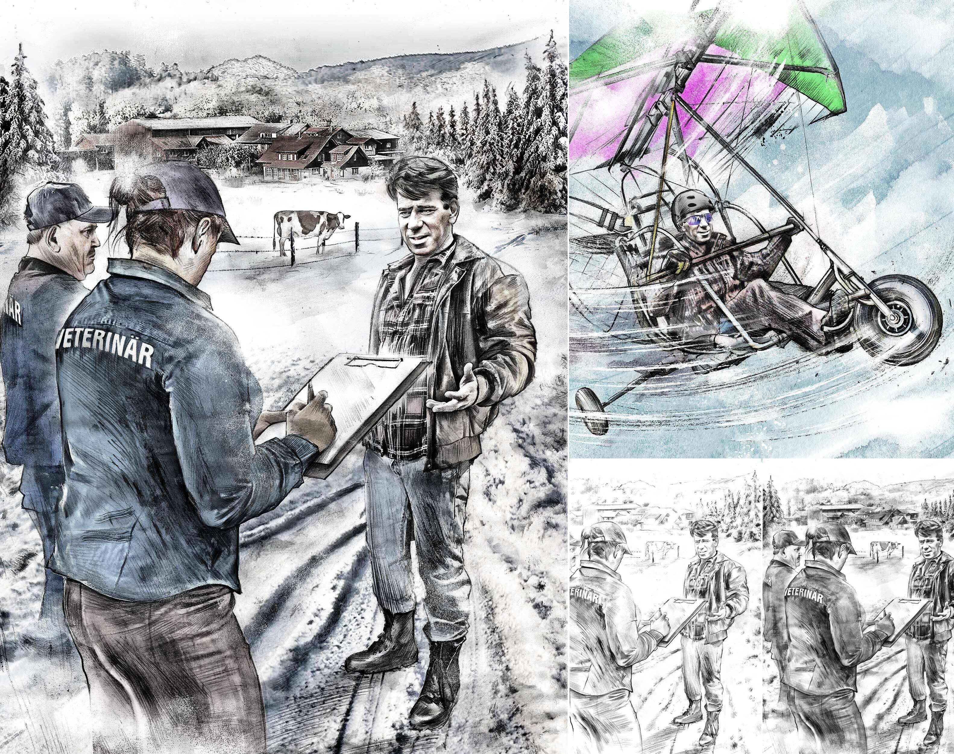 Story illustration realistic farmer - Kornel Illustration | Kornel Stadler portfolio