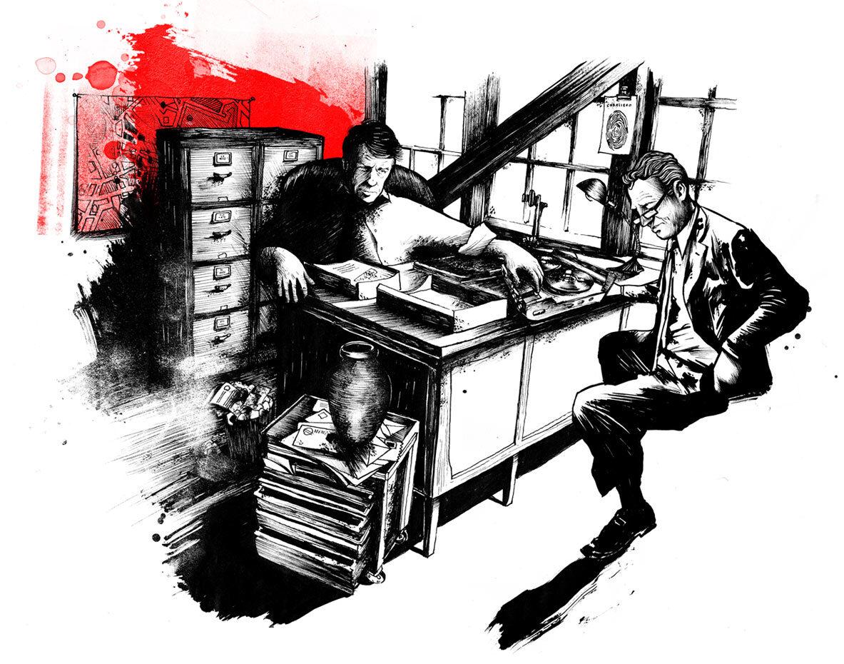Galiano Befragung Caballero - Kornel Illustration | Kornel Stadler portfolio