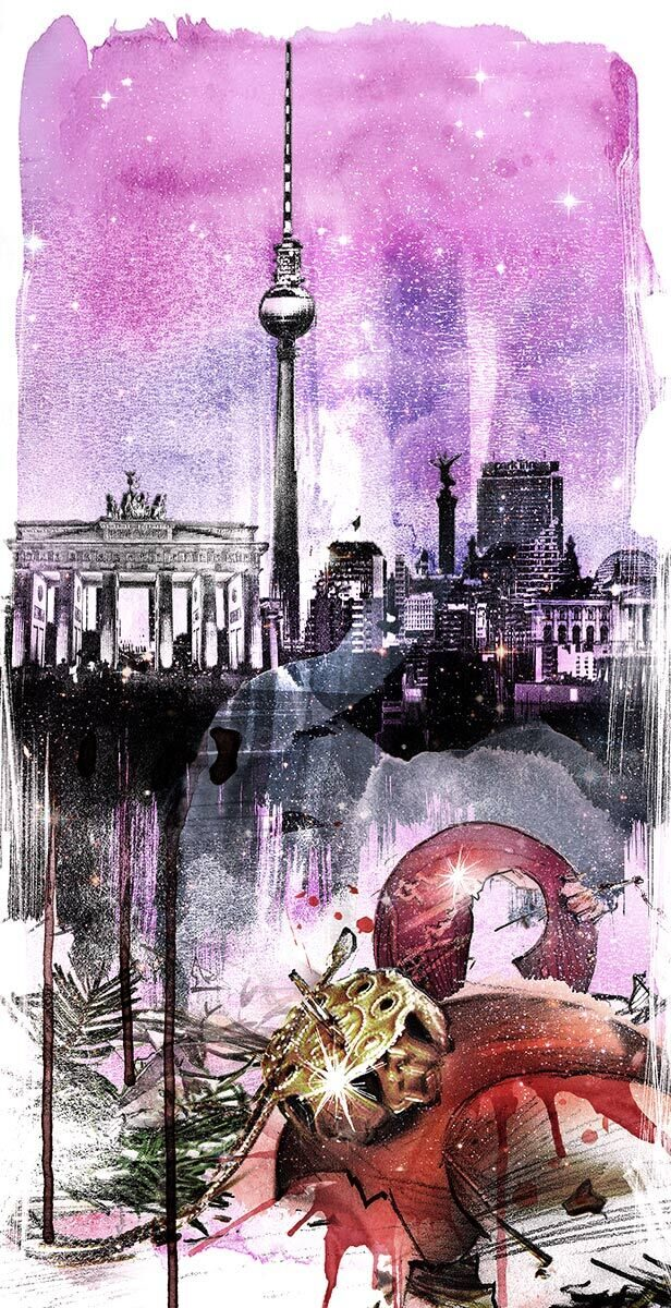 Berlin Weihnachtmarkt Terroranschlag Trauer Illustration - Kornel Illustration | Kornel Stadler portfolio