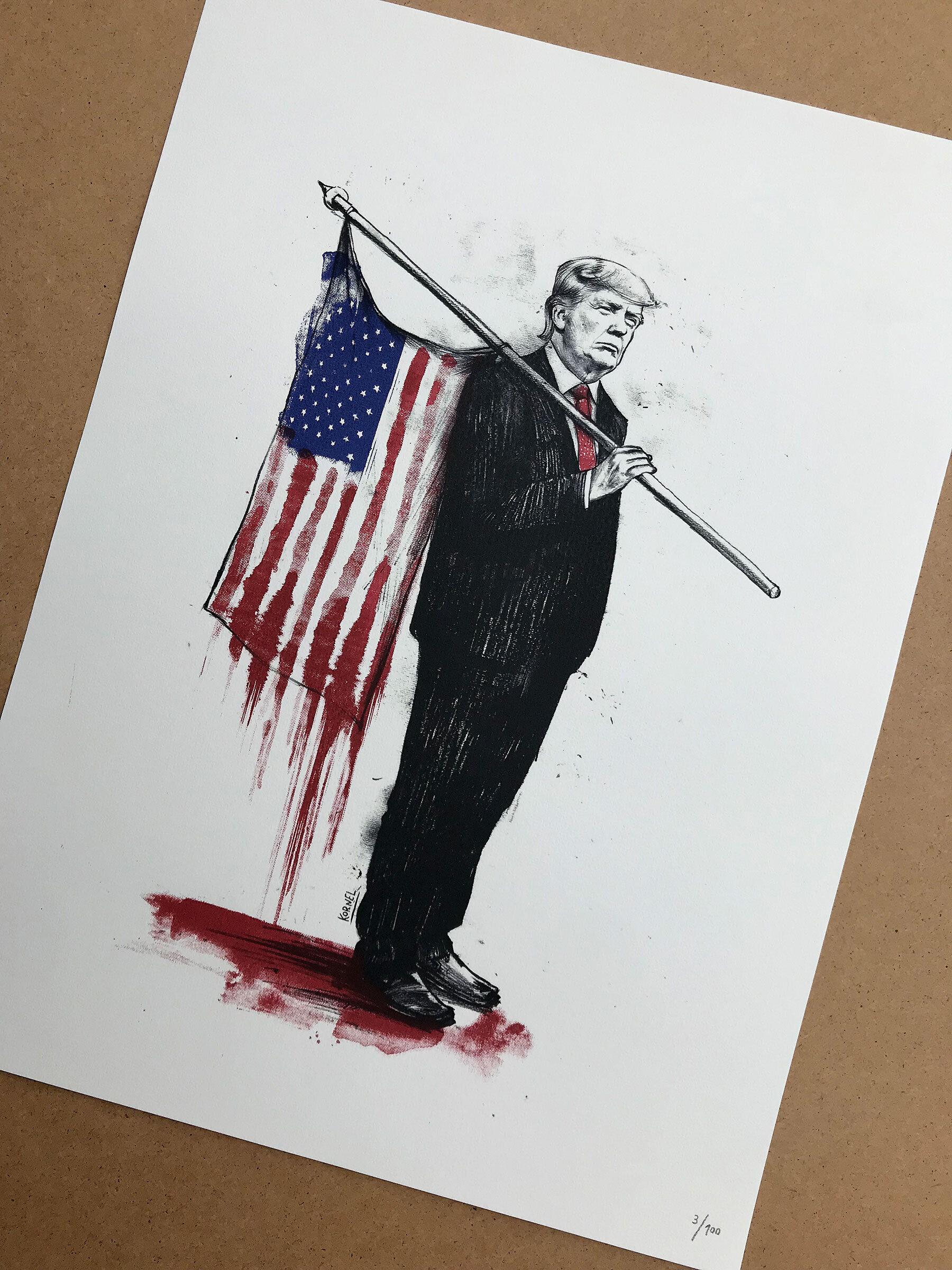 Donald Trump Artwork Bloodymerica - Kornel Illustration | Kornel Stadler portfolio