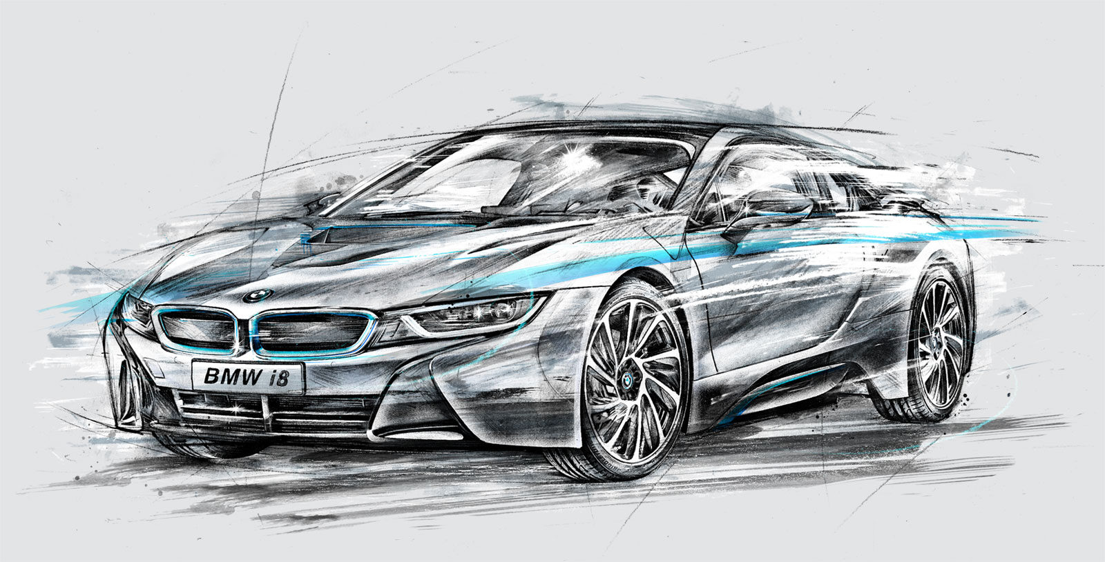 BMW i8 - Kornel Illustration   Kornel Stadler portfolio
