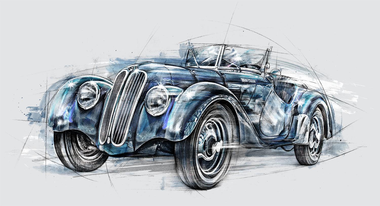 BMW Oldy - Kornel Illustration   Kornel Stadler portfolio