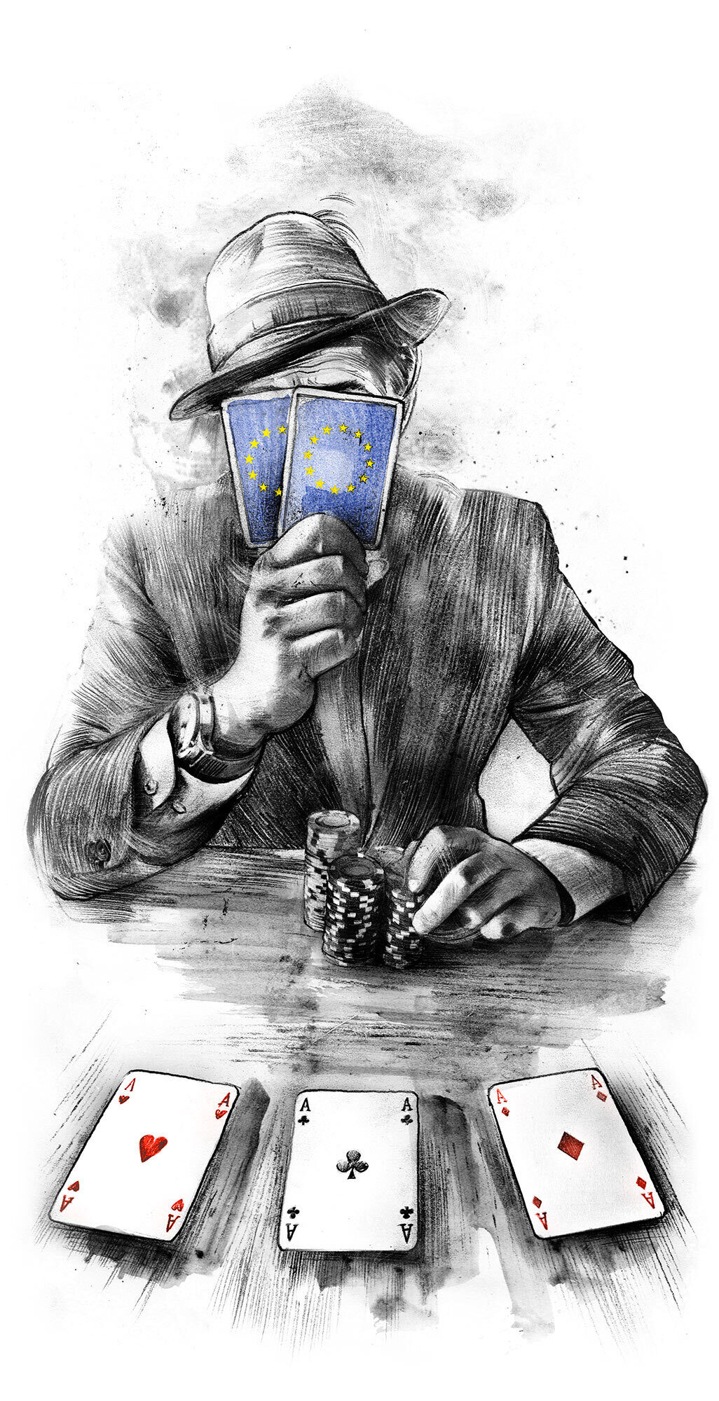 EU Poker editorial illustration - Kornel Illustration | Kornel Stadler portfolio