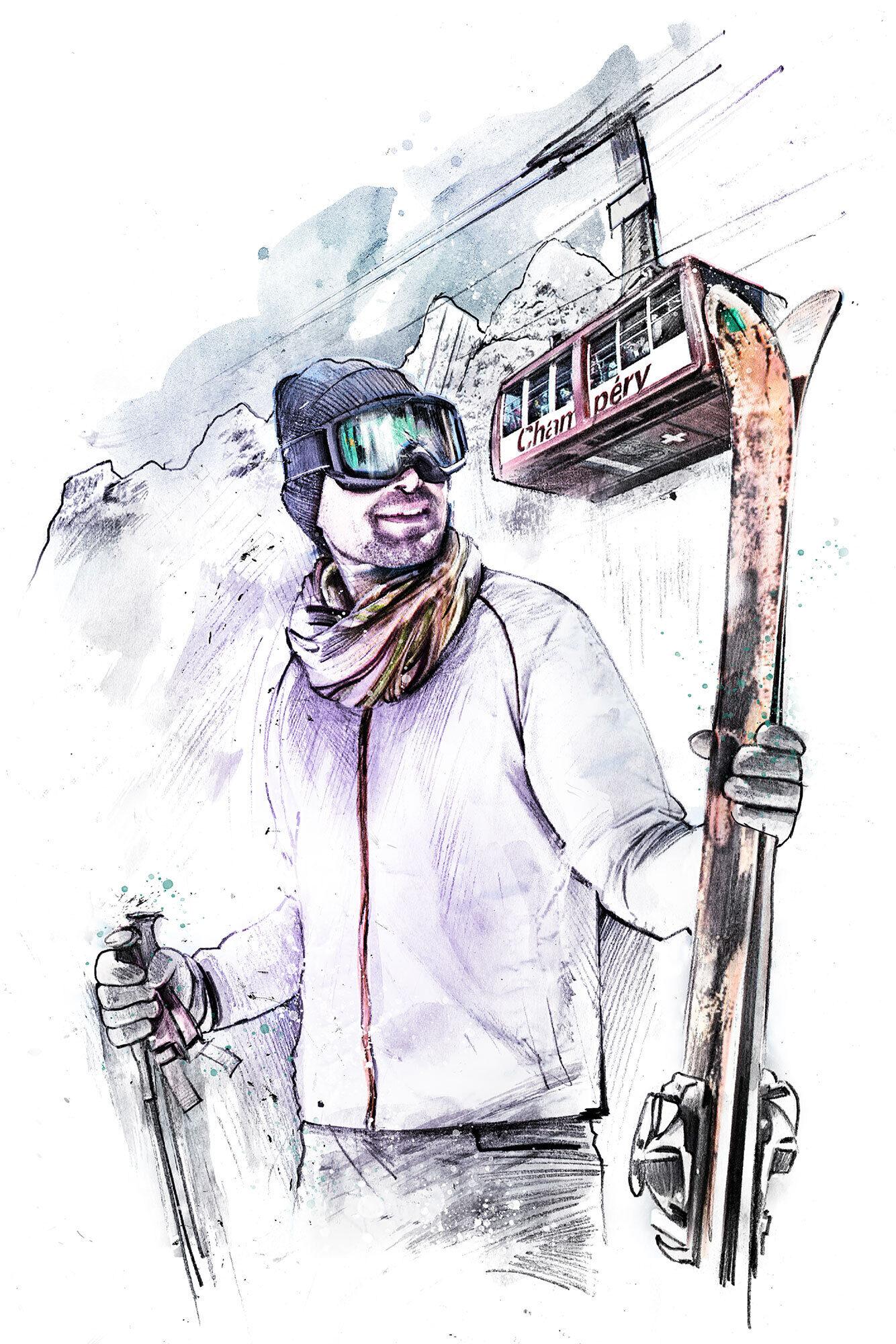 Champery - Kornel Illustration | Kornel Stadler portfolio