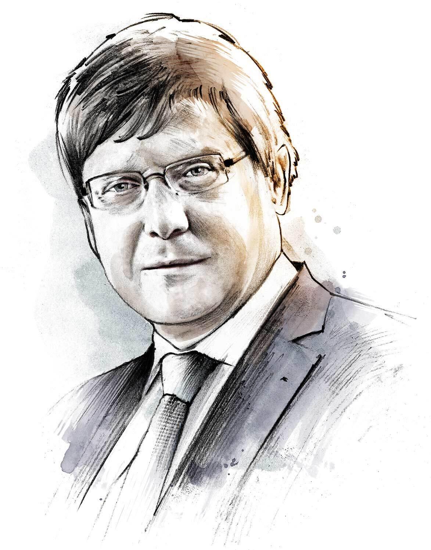 Christian Hiller von Gaertringen Portrait Illustration - Kornel Illustration   Kornel Stadler portfolio