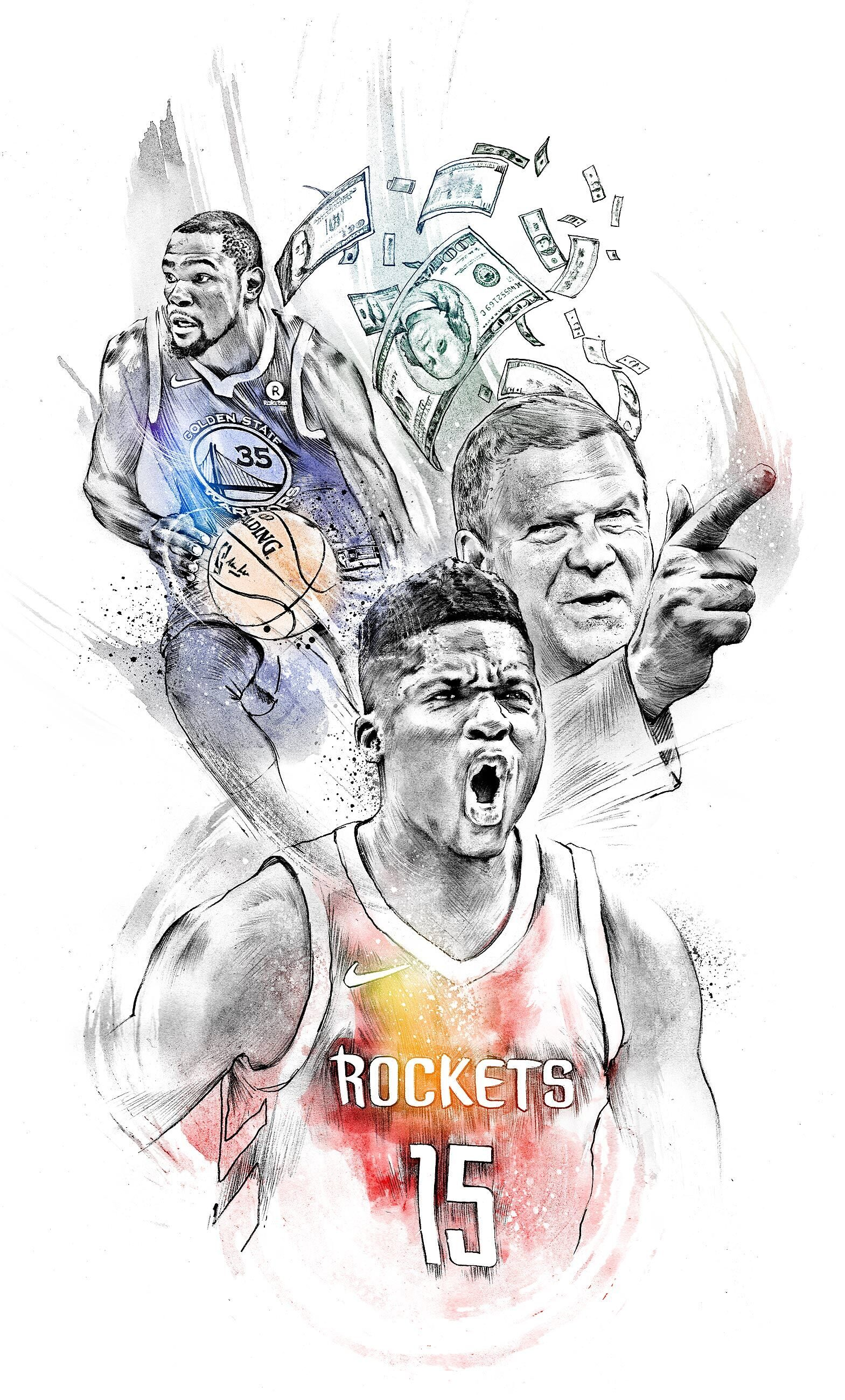 Sport illustration clint capela - Kornel Illustration | Kornel Stadler portfolio
