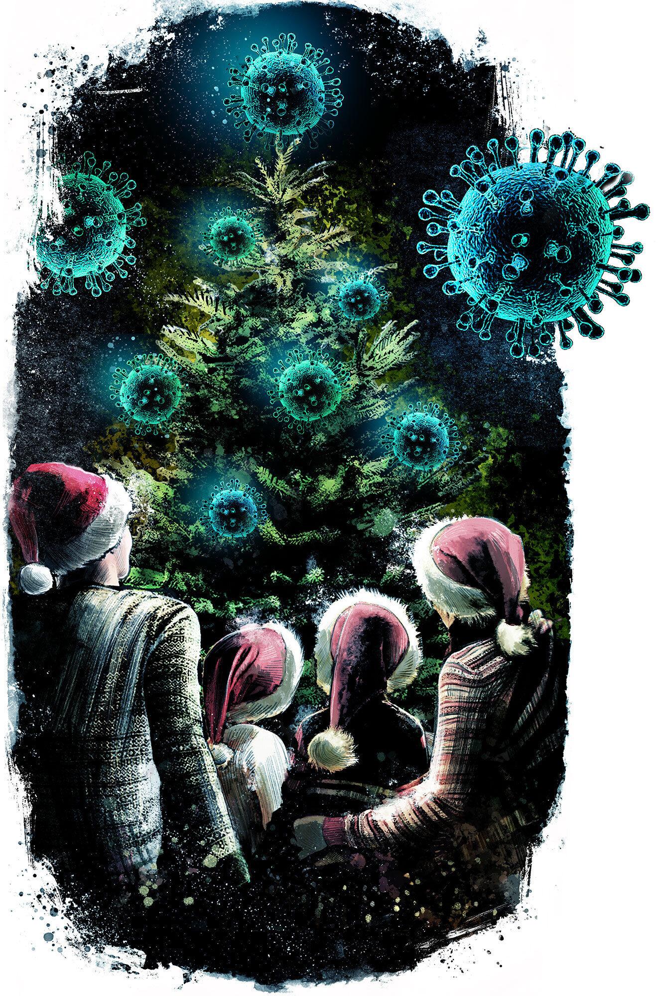 Corona Christmas - Kornel Illustration | Kornel Stadler portfolio