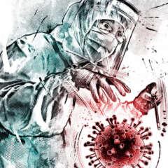 Work Corona illustration wuhan editorial zauberlehrling sorcerers apprenticies Kornel Illustration | Kornel Stadler