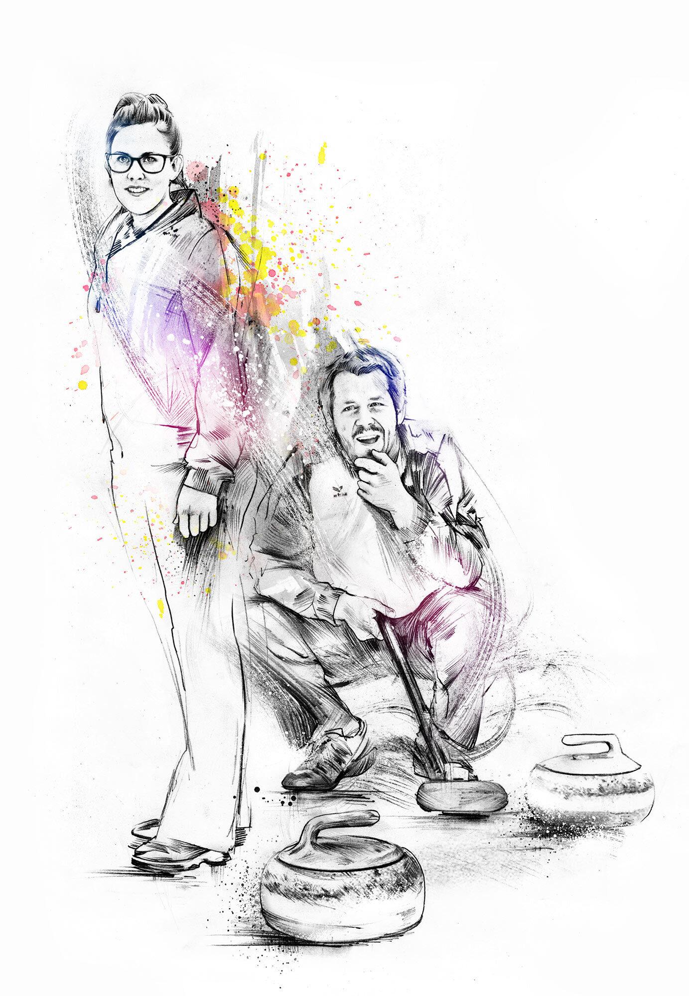 Curling - Kornel Illustration   Kornel Stadler portfolio