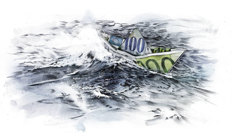 Menschenschmuggel fluechtlingskrise business geld editorial illustration schlepper - Kornel Illustration | Kornel Stadler portfolio