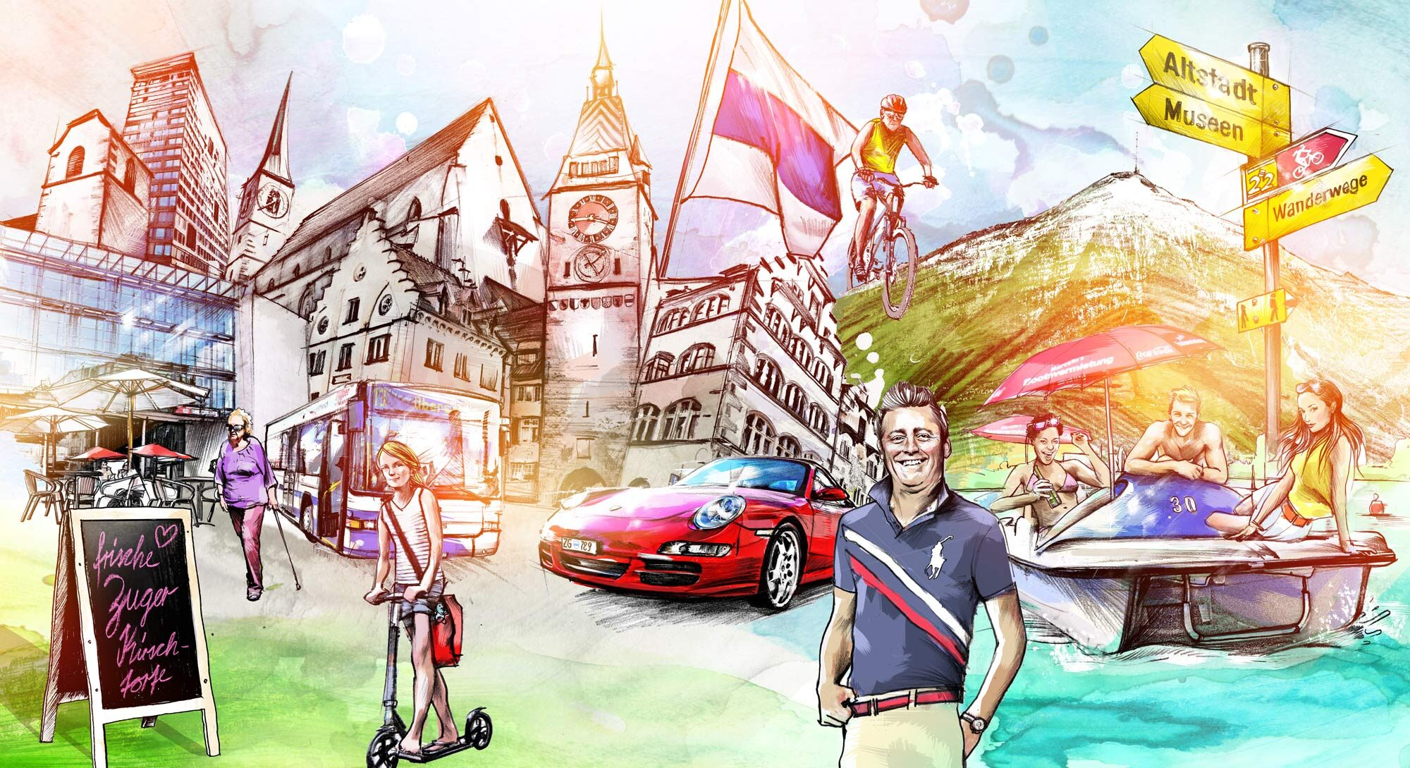 Zug Aufmacher - Kornel Illustration | Kornel Stadler portfolio