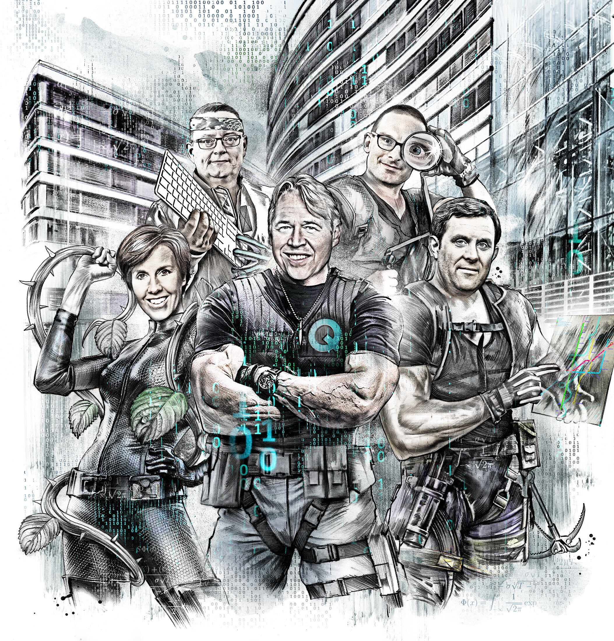 Quant Team illustration - Kornel Illustration | Kornel Stadler portfolio