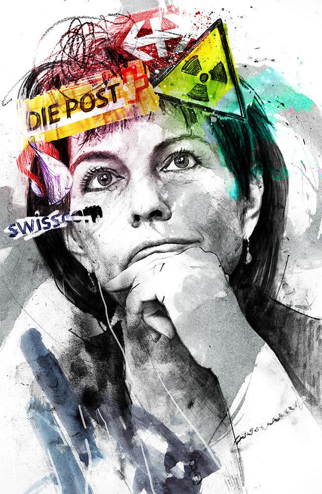 Doris Leuthard - Kornel Illustration | Kornel Stadler portfolio