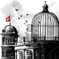 Client Arbeit Bundeshaus Bundesrat Schweizer Regierung Voegel Vogelkaefig Irrenhaus Editorial Illustration Kornel Illustration | Kornel Stadler