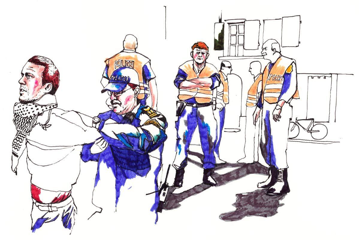 Demo polizei - Kornel Illustration | Kornel Stadler portfolio
