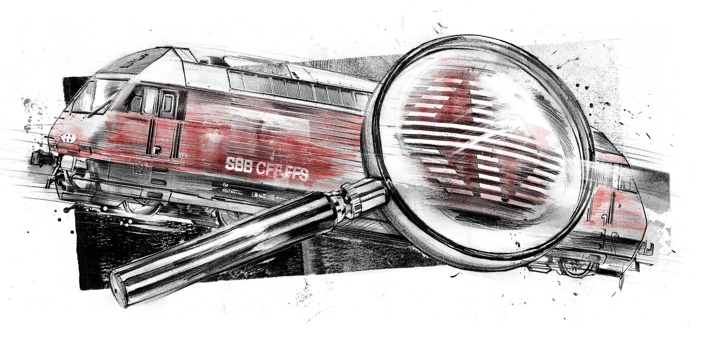 SBB Lokomotive illustration - Kornel Illustration   Kornel Stadler portfolio
