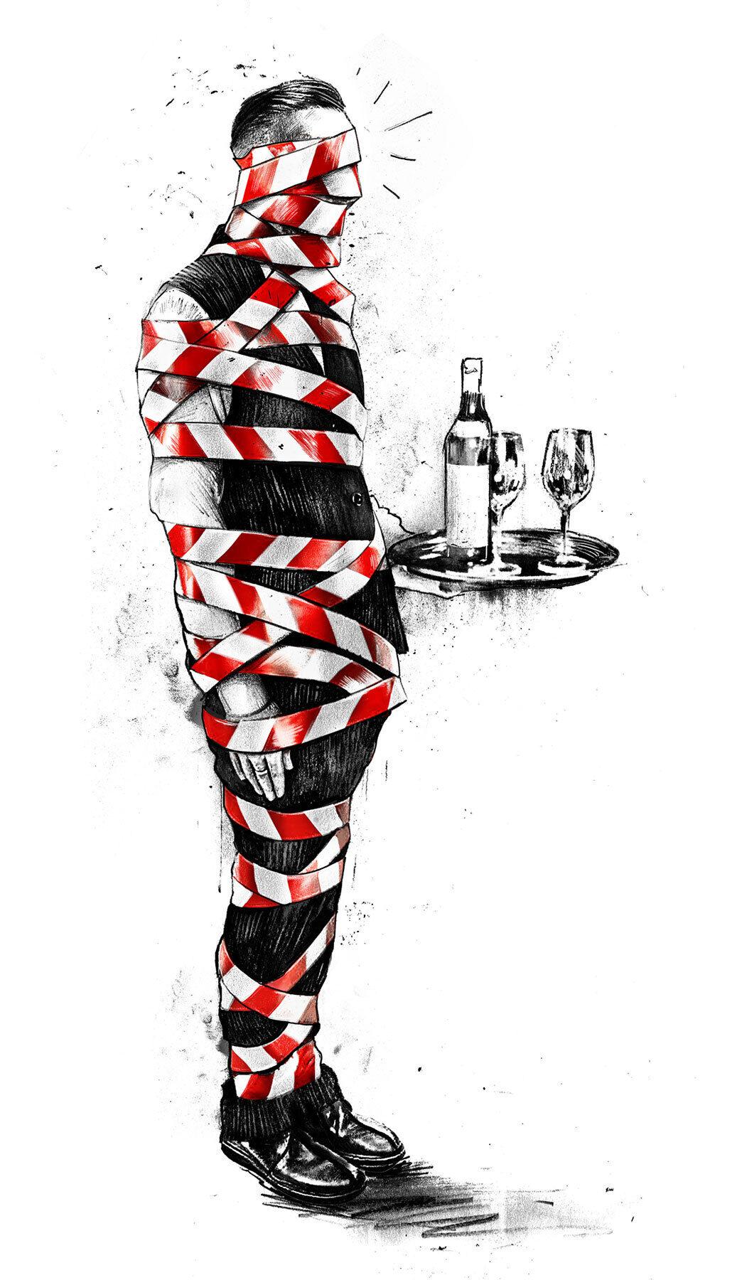 Gastornomie Corona - Kornel Illustration   Kornel Stadler portfolio