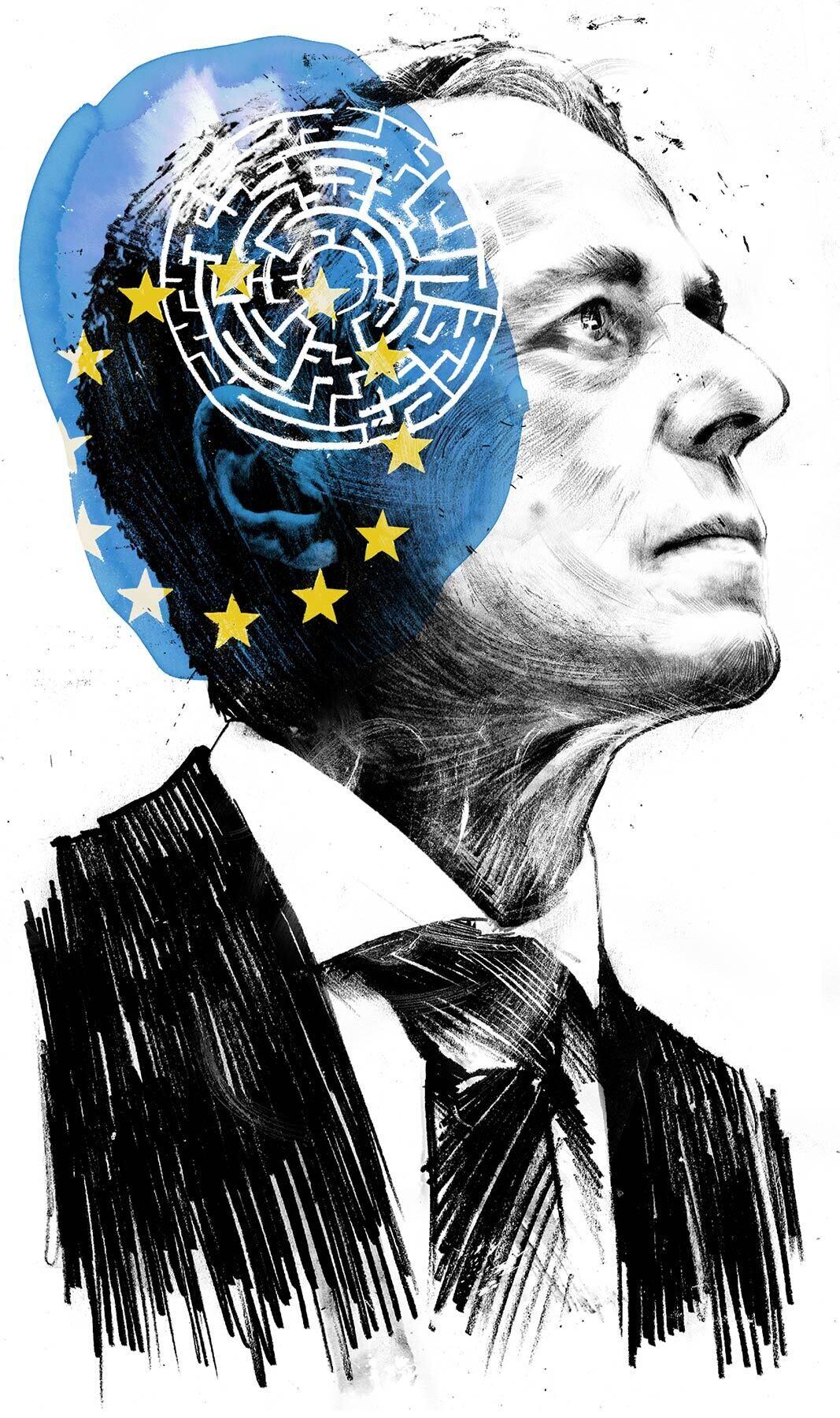 Ignazio Cassis EU illustration - Kornel Illustration | Kornel Stadler portfolio