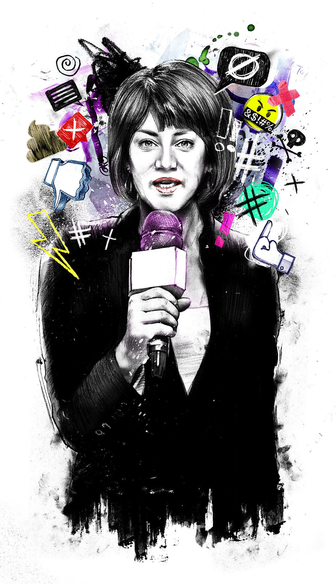 No hate woman - Kornel Illustration | Kornel Stadler portfolio