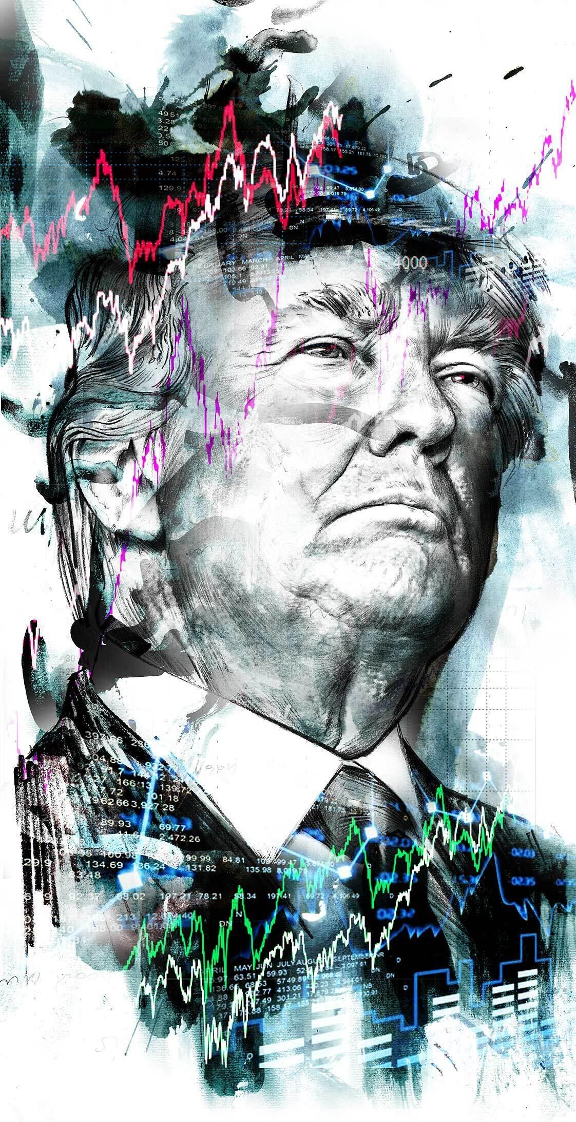 Donald Trump stock exchange charge - Kornel Illustration | Kornel Stadler portfolio