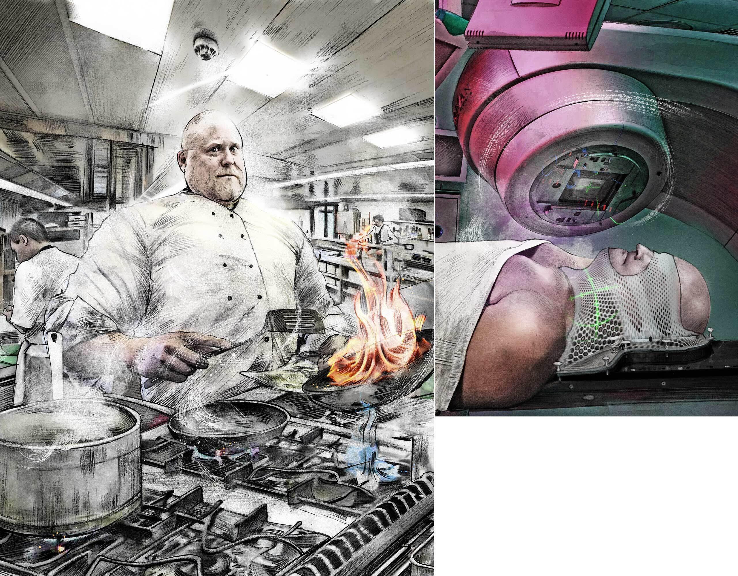 Koch radioonkologie bestrahlung krebs - Kornel Illustration | Kornel Stadler portfolio