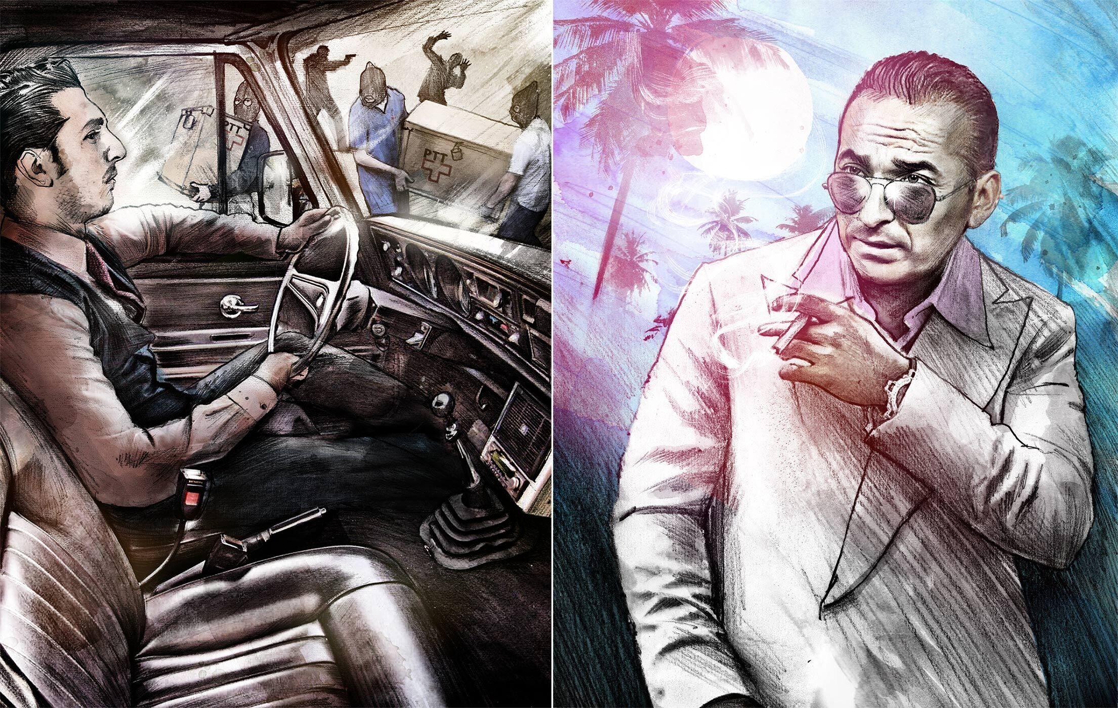 Postraub illustration - Kornel Illustration | Kornel Stadler portfolio