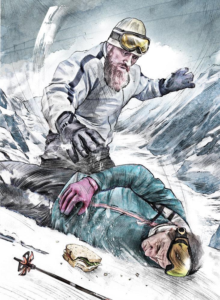 Ski - Kornel Illustration   Kornel Stadler portfolio