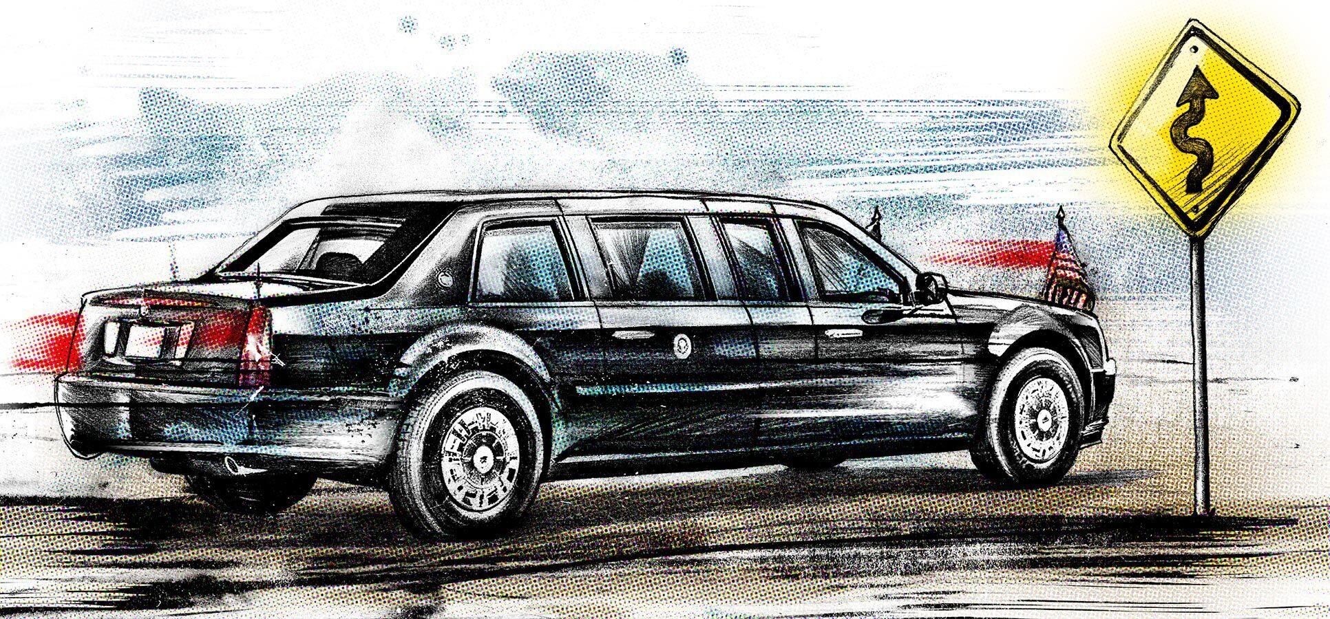 Cadillac illustration presidential limousine - Kornel Illustration | Kornel Stadler portfolio
