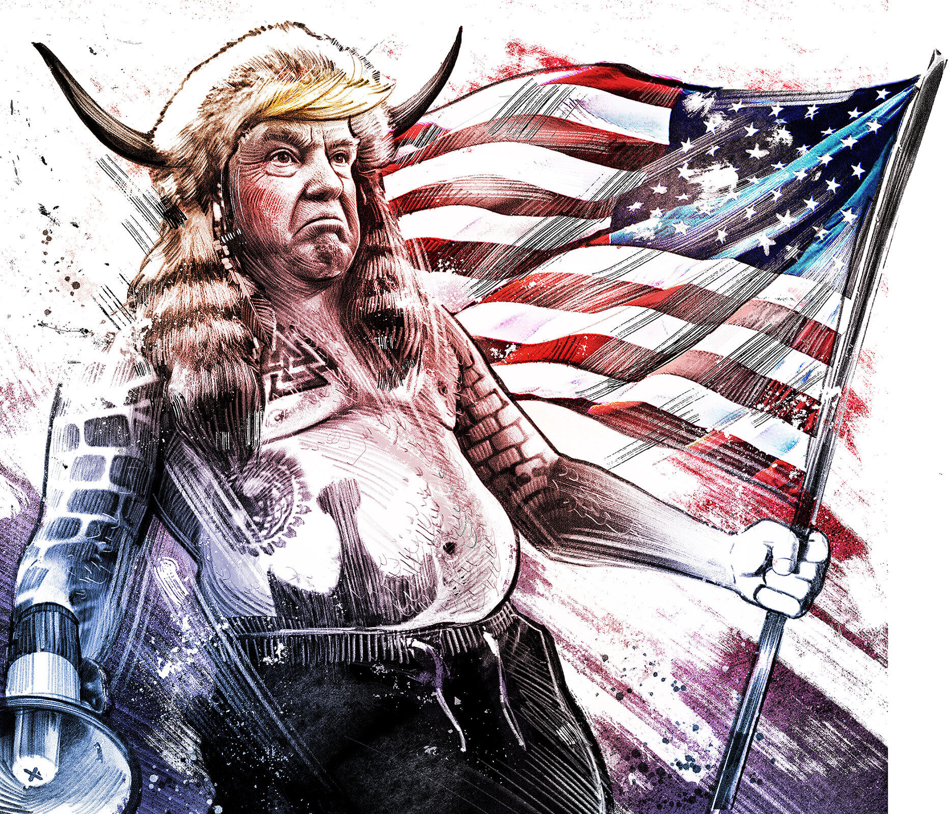 Viking Trump - Kornel Illustration | Kornel Stadler portfolio