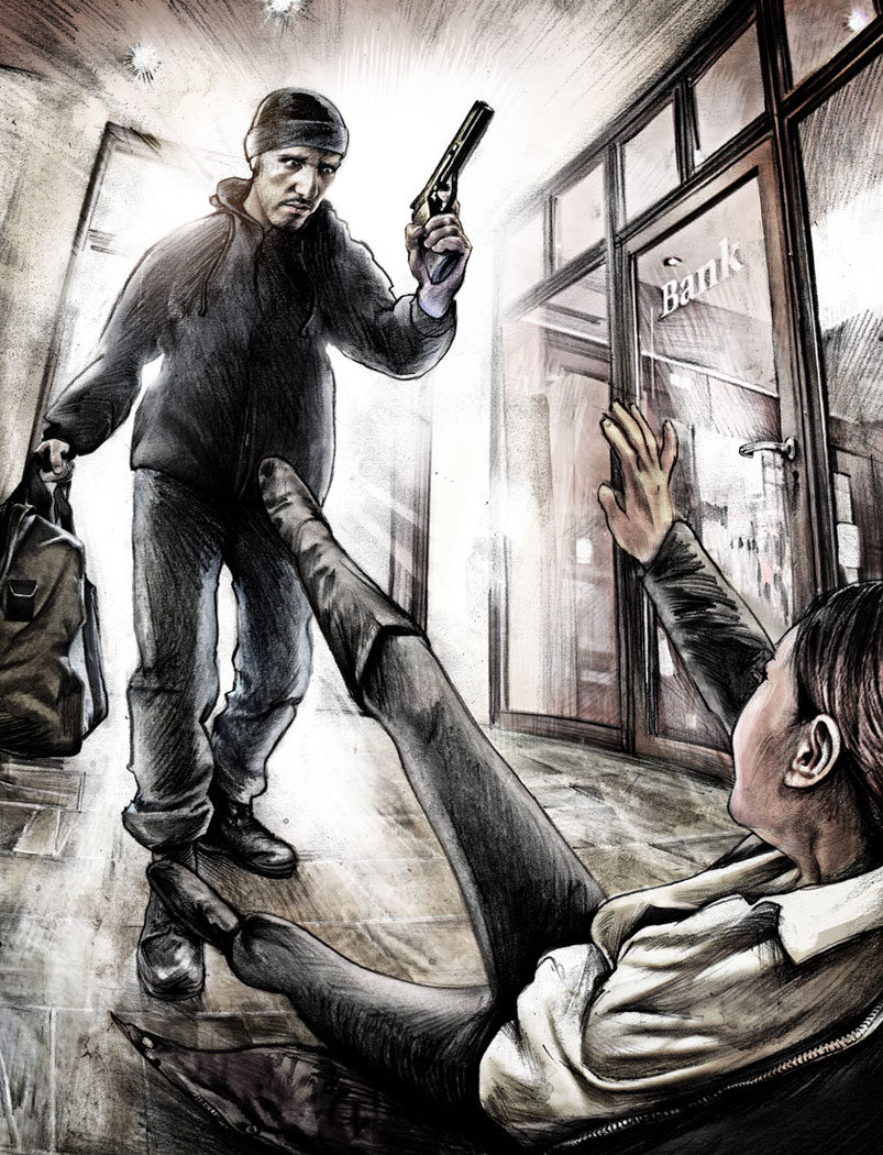Bankraub - Kornel Illustration | Kornel Stadler portfolio