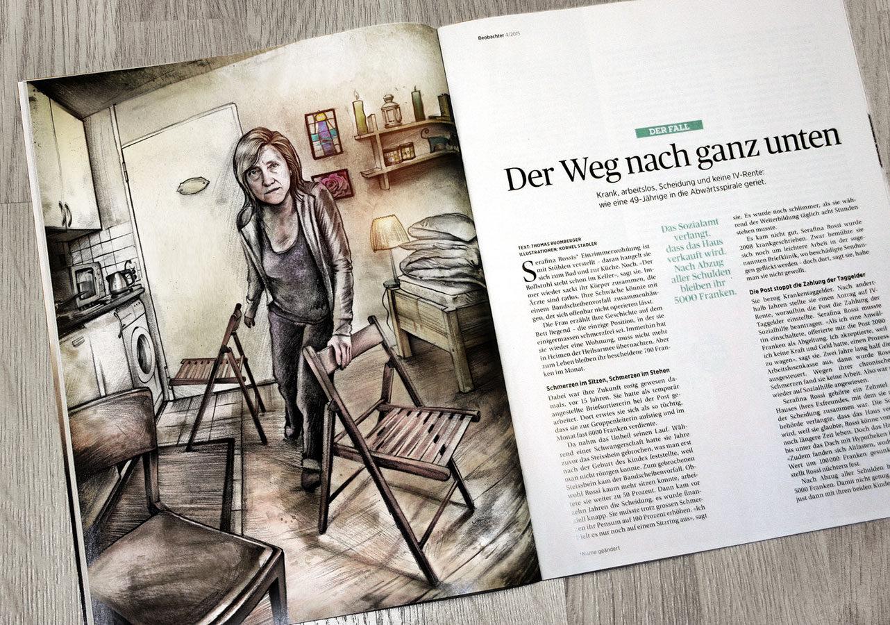 Beobachter Layout - Kornel Illustration | Kornel Stadler portfolio