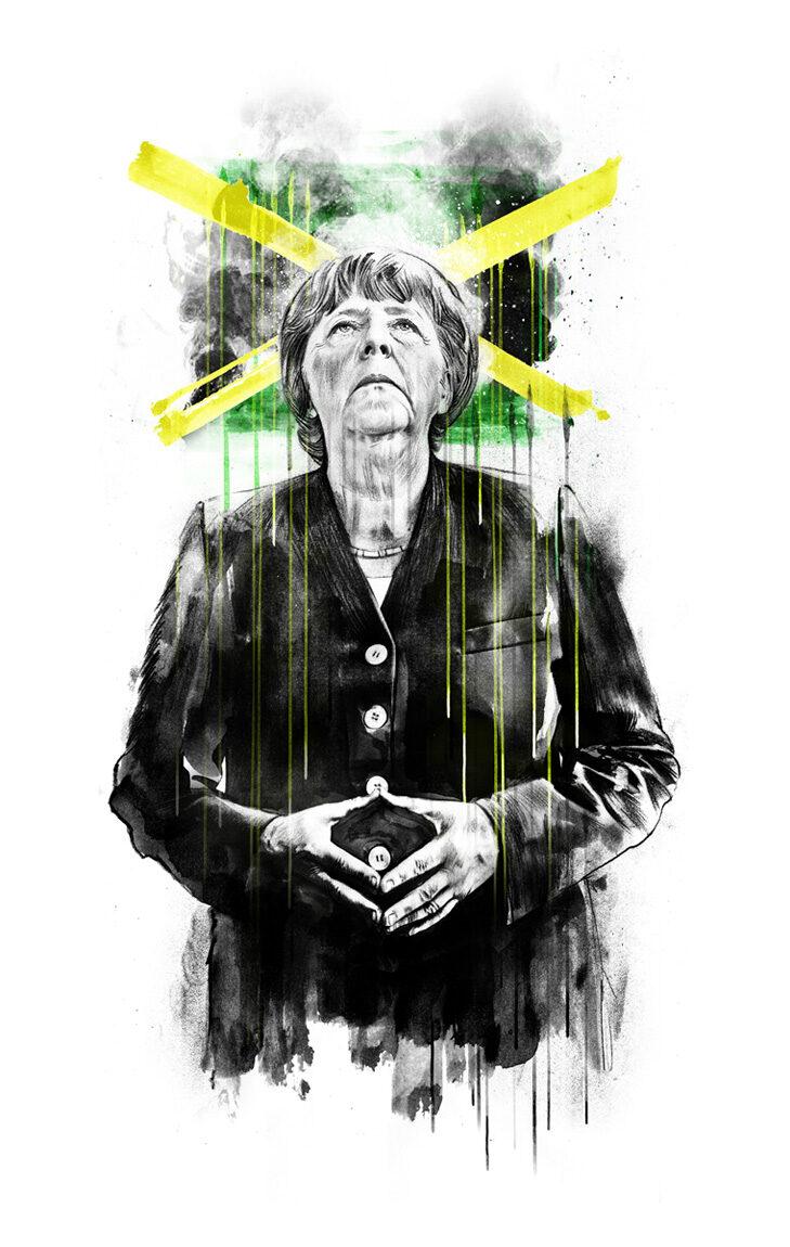 Merkel Jamaika - Kornel Illustration   Kornel Stadler portfolio