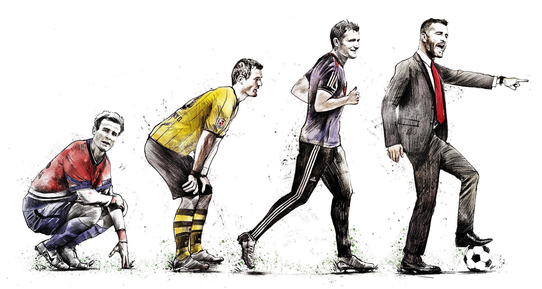 Evolution Alex Frei illustration - Kornel Illustration | Kornel Stadler portfolio