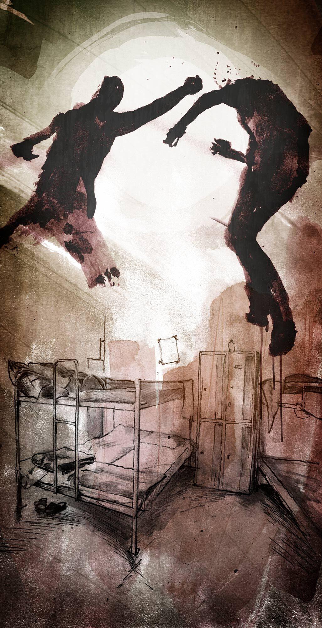 Asylheim Gewalt Illustration - Kornel Illustration | Kornel Stadler portfolio