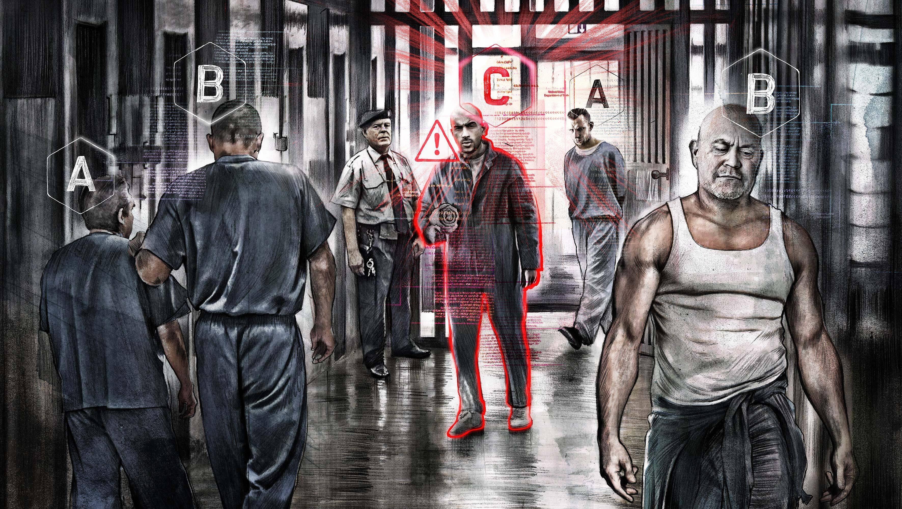 Prison scene illustration - Kornel Illustration   Kornel Stadler portfolio
