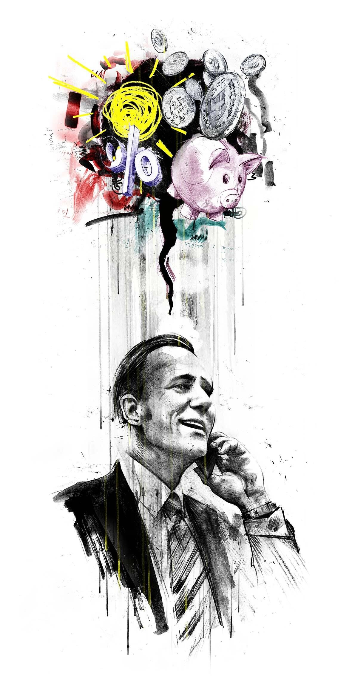 Editorial illustration business man - Kornel Illustration | Kornel Stadler portfolio