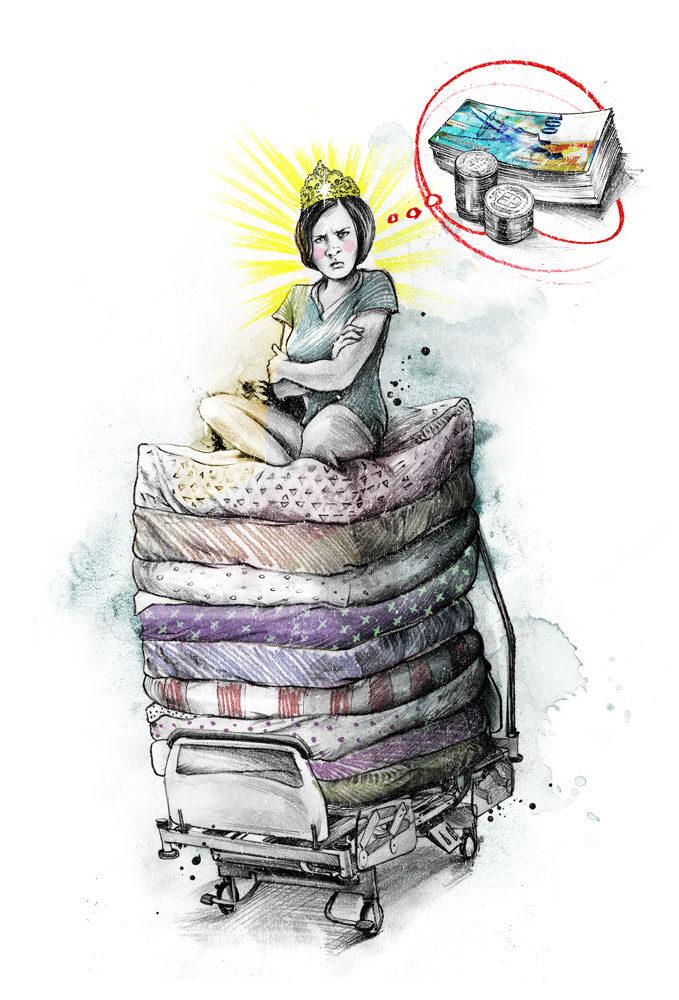 Prinzessin auf der Erbse - Kornel Illustration | Kornel Stadler portfolio