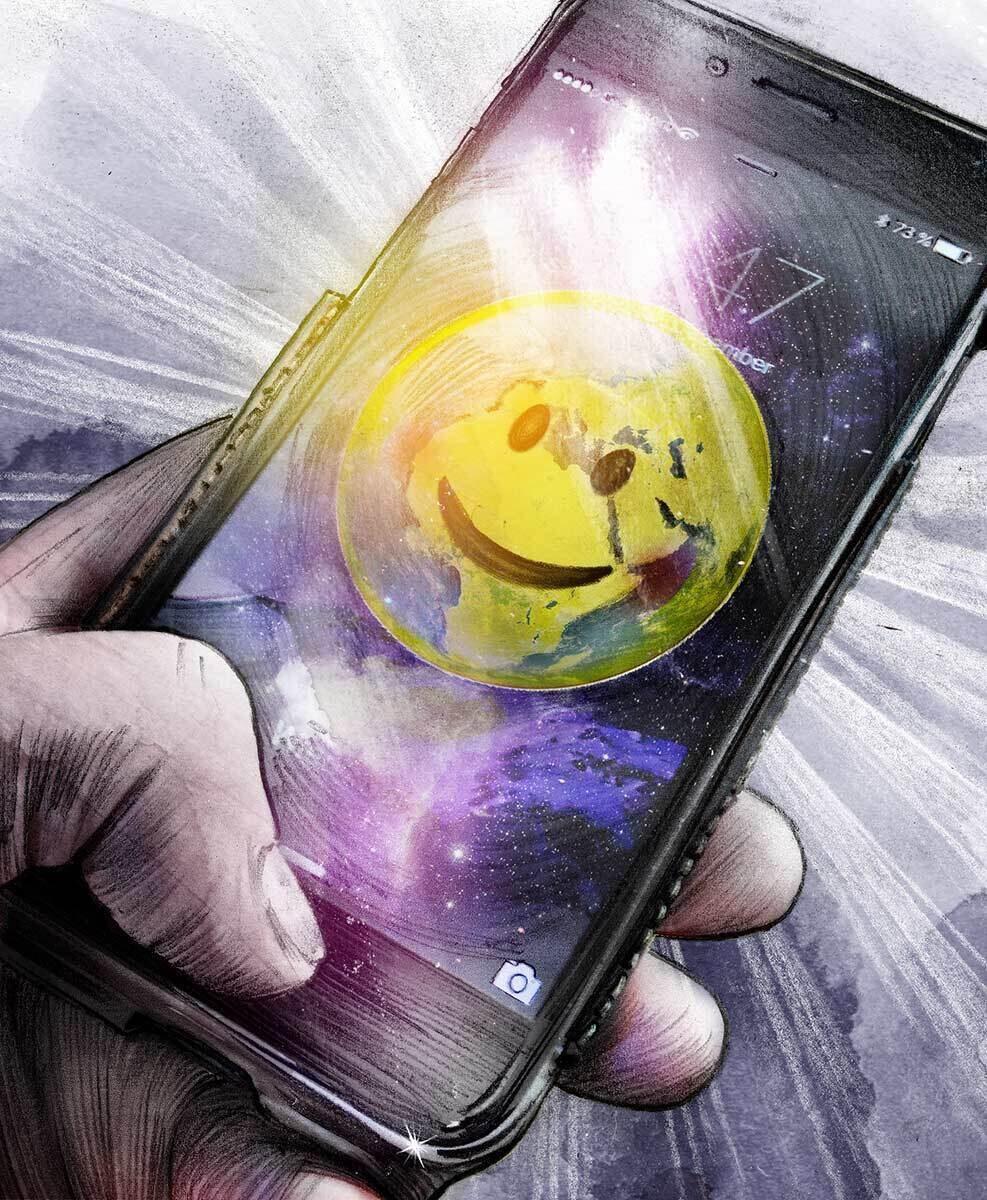 Emotiworld emoti smily handy iphone illustration happy - Kornel Illustration   Kornel Stadler portfolio