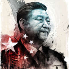 Work China editorial Xi Jinping Evergrande illustration investment capitalism Kornel Illustration | Kornel Stadler