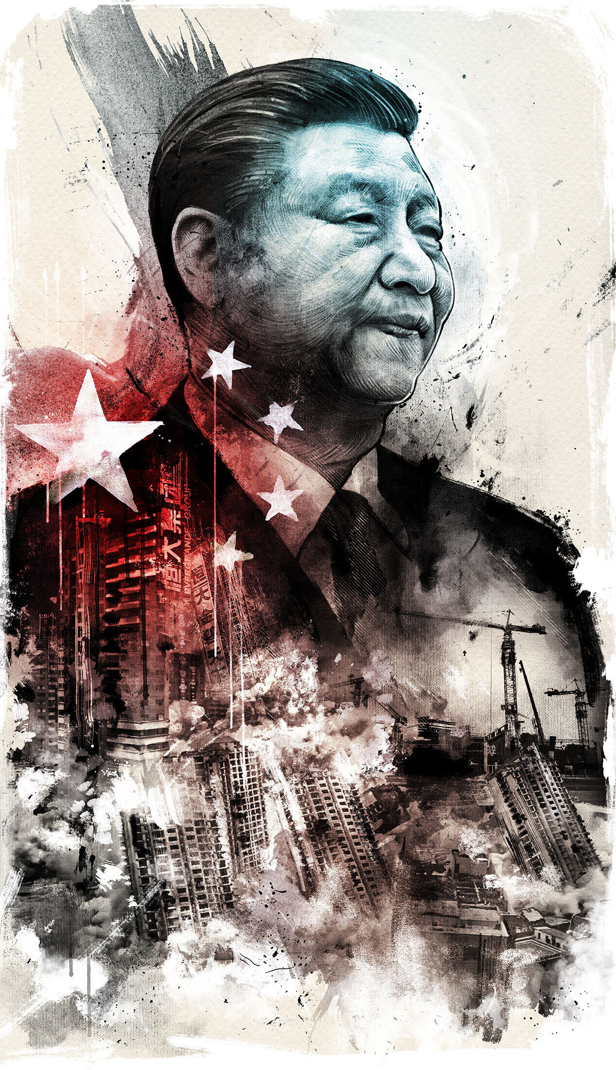 China editorial Xi Jinping Evergrande illustration investment capitalism - Kornel Illustration   Kornel Stadler portfolio