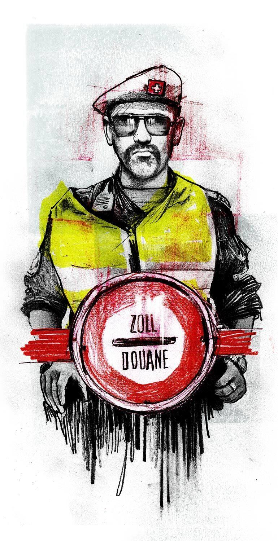 Zoll Stop Illustration - Kornel Illustration | Kornel Stadler portfolio